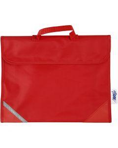 Cartable, prof. 9 cm, dim. 36x29 cm, rouge, 1 pièce