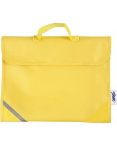 Cartable, prof. 9 cm, dim. 36x29 cm, jaune, 1 pièce