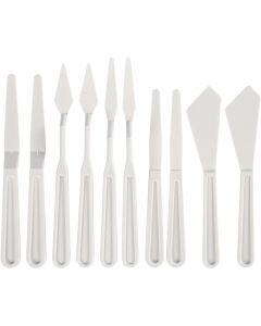 Spatules en plastique, L: 13-33 mm, 10 pièce/ 1 Pq.