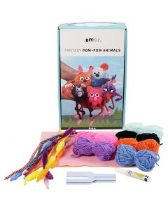 Kit de laine DIY - Animaux, 1 set