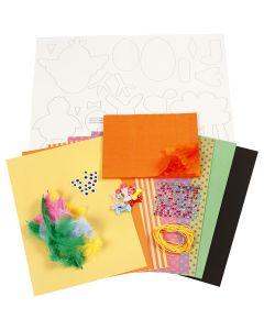 Kit de décorations, couleurs franches, 1 set