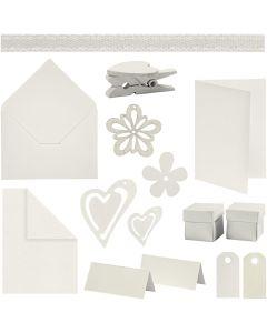 Happy Moments - Fabrication de cartes, blanc cassé, 160 UV/ 1 Pq.