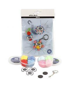 Mini kit créatif, figurines avec de gros yeux, 1 set