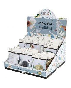 Présentoir de table avec des mini kits créatifs, 60 set/ 1 Pq.