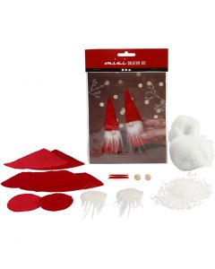 Mini kit créatif, lutin de Noël , H: 12 cm, 1 set