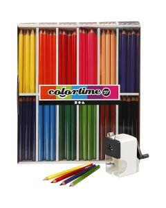 Crayons de couleur Colortime , mine 5 mm, couleurs assorties, 1 set