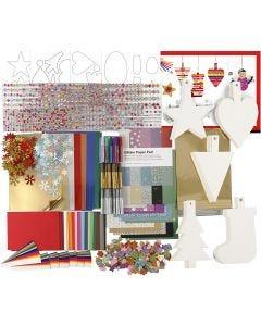 Kit de décoration de Noël, couleurs assorties, 1 set