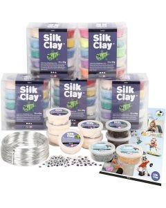 Set scolaire - Figurines en pâte Silk Clay® , 1 set
