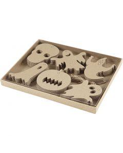 Décorations d'Halloween, dim. 7-10 cm, 6x10 pièce/ 1 Pq.