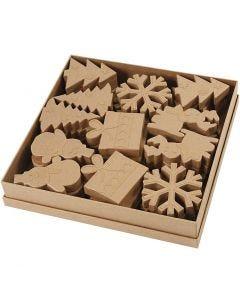 Formes de Noël , H: 10-14 cm, 6x6 pièce/ 1 Pq.