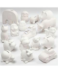 Tirelires , blanc, 106 pièce/ 1 boîte