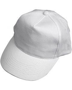 Casquette, dim. 49,5-56 cm, blanc, 1 pièce