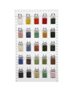 Rocailles, couleurs assorties, 50x25 gr/ 1 Pq.