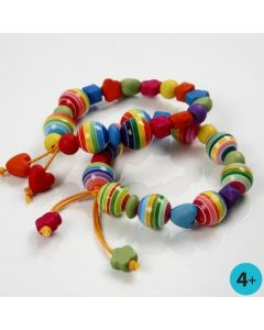 A Brightly Coloured Bracelet with Plastic Beads
