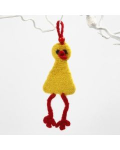A Knitted and Felted Easter Chick for Hanging