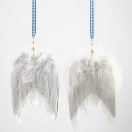 Angel Wings with Decorative Ribbons