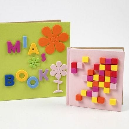 Notebooks with Foam Rubber Decorations