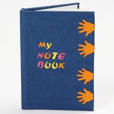 A Notebook with a punched-out Design