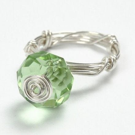 A Ring made from Silver-Plated Wire