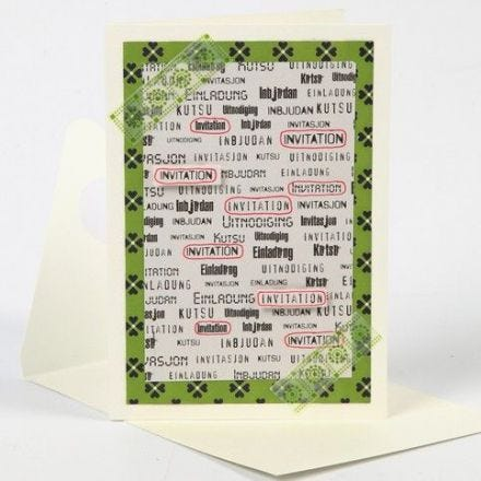 A Special Occasion Card with Text