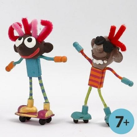 Skating Flexi Figures with Silk Clay