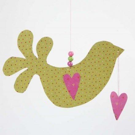 Un oiseau avec coeurs en papier design série Helsinki