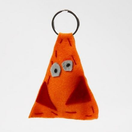 A Keyring Fob made from Felt with coarse Stitches