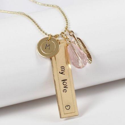 Bijoux personnalisés avec des plaques métalliques