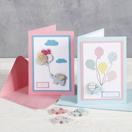 Fête prénatale - des cartes 'pour, de la part de' avec des autocollants designs