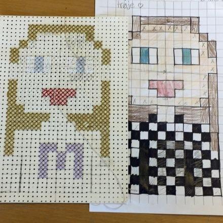 Pixel Art avec des points de croix