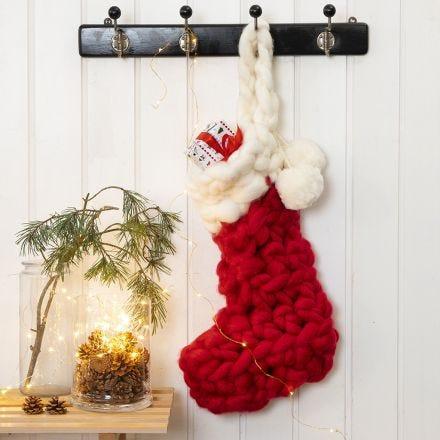 Un bas de Noël crocheté pour les cadeaux du calendrier de l'Avent