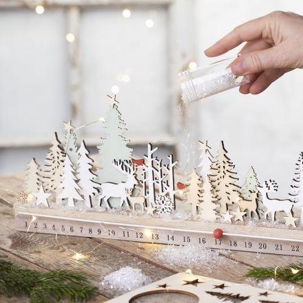 Un calendrier de l'Avent en bois