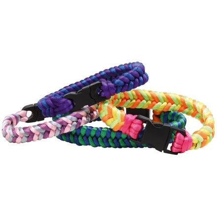 Beautiful braided bracelet from satin cords