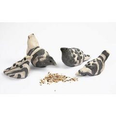 Zebra bird in self-hardening clay
