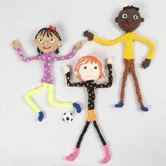 Figurines magnétiques de fils de chenille avec Silk Clay et Foam Clay