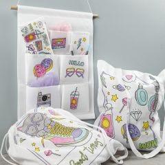 Articles en tissu préimprimés décorés avec des feutres textiles