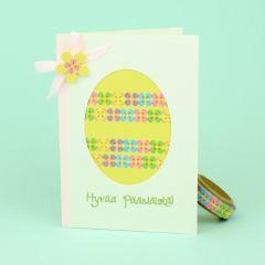 Washiteippi pääsiäiskortissa