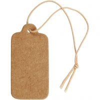 Etiquettes, dim. 15x30 mm, brun clair, 100 pièce/ 1 Pq.
