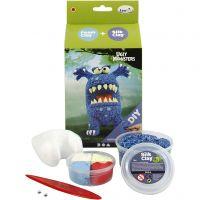 Funny Friend, monstre, bleu, 1 set