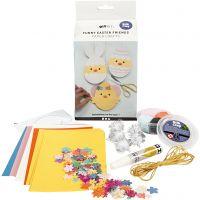 Amis de Pâques, papier cartonné avec décoration, 1 set