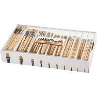 Pinceau Nature Line, dim. 00, 0, 1, 2, 4, 8, 12, 14, 20, 22, L: 3-22 mm, manches courts, 120 pièce/ 1 Pq.