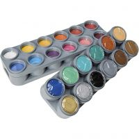 Palette de maquillage pour visage à base d'eau, couleurs assorties, 24x15 ml/ 1 Pq.