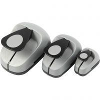 Perforatrices fantaisie, oeuf, dim. 25+50+76 mm, 3 pièce/ 1 Pq.