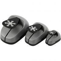 Perforatrices fantaisie, Flocons de neige, dim. 25+49+75 mm, 3 pièce/ 1 Pq.