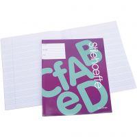 Cahier d'exercices à papier ligné, A5, dim. 14,8x21 cm, 32 , 25 pièce/ 1 Pq.
