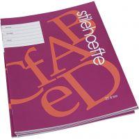 Cahier d'exercices à papier ligné, A4, dim. 21x29,7 cm, 32 , 25 pièce/ 1 Pq.
