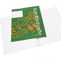 Cahier d'exercices avec un espace pour des images/photos, A4, dim. 21x29,7 cm, 32 , 25 pièce/ 1 Pq.