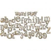 Gabarit de coupe Sizzix, jeu de mots, dim. 15,2x37,8x1,9 cm, 1 pièce