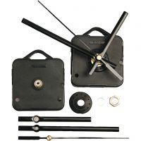 Mécanisme d'horloge, cadran d'une épaisseur de 6 mm max., noir, 1 set