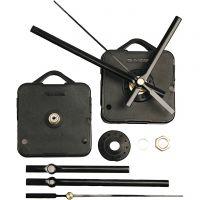 Mécanisme d'horloge, cadran d'une épaisseur de 10 mm max., noir, 1 set